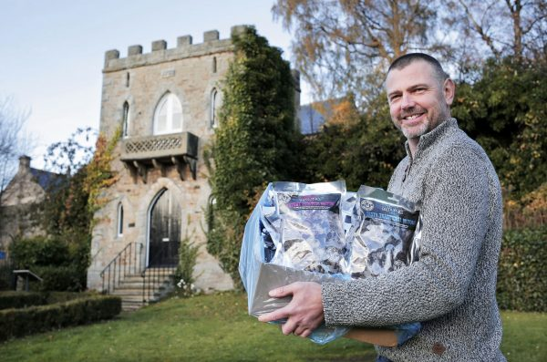 Glenn Crookes with his tasty biltong products at his new base at the Durham Dales Centre, in Stanhope, County Durham.